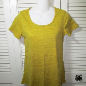 LuLaRoe Mustard Yellow Heathered Top XXS